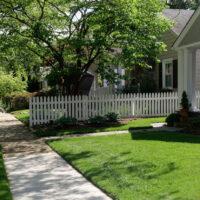 Residential sidewalk near homes