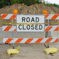 Construction Site Road Closedd