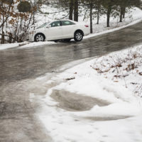 automobile slid off icy country road