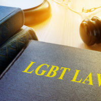 Book with title LGBT Law and gavel.