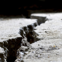 crack in sidewalk