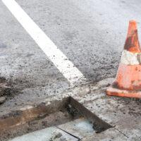 hole in street
