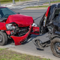 Rear-end Car collision on street