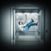 elevator fall