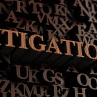 Litigation Wooden letters