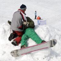 Ski slope accident