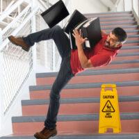 stairway slip & fall
