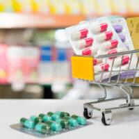 meds in a mini shopping cart