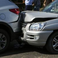 2 cars in a crash