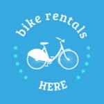 Blue bike for rent