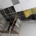 Worker on scaffold