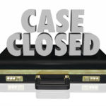 briefcase that reads case closed