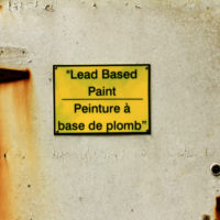 Sign that reads lead paint