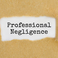 sign that reads professional Negligence