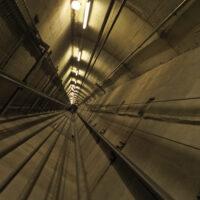 view of elevator shaft