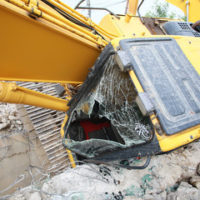 machine accident on construction site