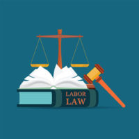Book that reads labor law