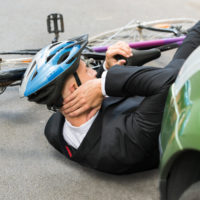 Male Cyclist After Car Accident